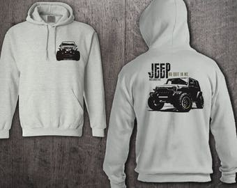 Jeep hoodie, Front & Back Printed Jeep Life hoodies, Jeep hair hoodies, Unisex hoodies, Jeep sweater, Jeep t shirts, Funny t shirt, Jeep Top