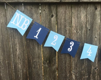 first birthday banner , 1st birthday decor , boy 1st birthday decoration , photo banner