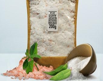 Mint & Eucalyptus Vegan Bath Salts - 100% Natural, Cruelty Free, Paraben Free, Handmade, GMO Free