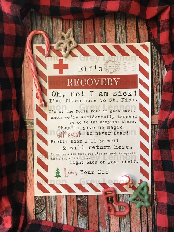 Christmas Elf Recovery Letter if Touched and Lost Magic Printable - Vintage Typewriter Style - INSTANT Downloadable Printable PDF!