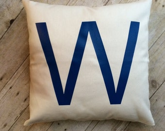 Fly The W- Cubs W- Chicago Cubs- Cubs pillow- W pillow- W- World Seriers- Chicago Cubs World Series- Chicago Cubs W- baseball