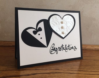 Wedding Card-Wedding Congratulations Card-Wedding Shower Card-Bride and Groom Card-Blank inside for your own personal message