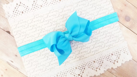 Blue Baby Headband, KIds Hair Bands, Newborn Head Bands, Headbands For Baby, Hair Bows For Toddlers, Headband Bow Baby, Infant Headband