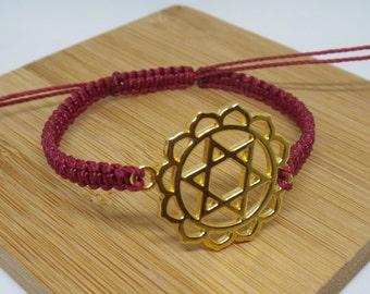 ANAHATA CHAKRA BRACELET | braided,knotted,macrame,woven | Heart Chakra