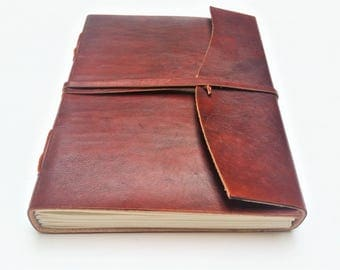 Leather Journal, Refillable Journal, Plain Leather Journal, Notebook, Diary, Sketchbook.