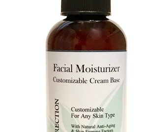 Facial Moisturizer, Unscented Cream Base, 90%+ Organic, 4 oz.