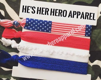 patriotic hair ties, 4th of july hair ties, 4th of july accessories, patriotic accessories, independence day
