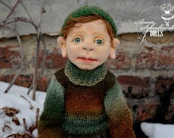 Handmade Doll- Julek -53cm (JO 19'17) - textile doll- fabric doll- rag doll- home decoration- handmade toy-cloth dolls-fabric dolls