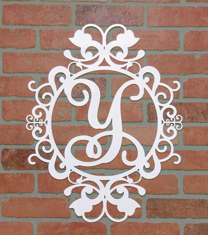 weatherproof monogram house sign monogrammed wreath monogram wreath door monogram front door. Black Bedroom Furniture Sets. Home Design Ideas