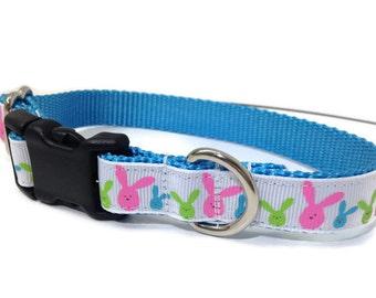Easter dog Collar, Easter Rabbit dog collar, Happy Easter, Bunny Dog collar, Rabbits dog collar, Easter, small Dog collar