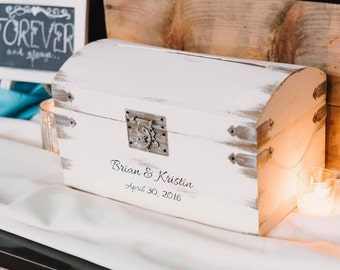 Rustic Wedding Card Box Personalized