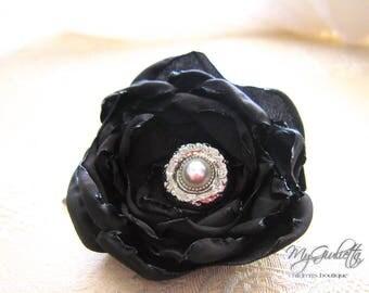 Plum Hair Flower Clip, Handmade Flower Clip, Tafetta Flower, Hair Accessories for Women, Flower Hair Clips, Maternity Hair Flower, Hair Pins