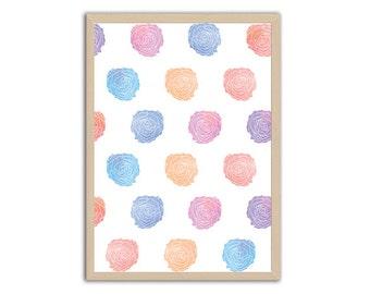 Floral art prints, Home decor wall art, Baby girl nursery wall art, Nursery wall art girl, Nursery decor girl