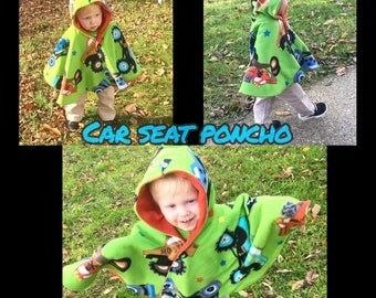 car seat poncho / baby cape / poncho/ baby wearing / toddler poncho / infant poncho / spring