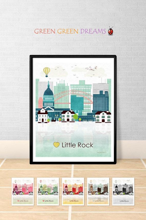 little rock print poster wall art printable little rock