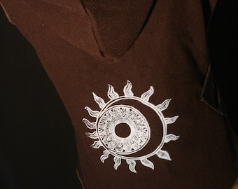 Vest with Sun and moon print size M