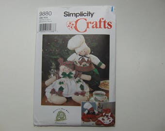 Simplicity Crafts 9880 Sewing Pattern 16 inch Gingerbread People UNCUT