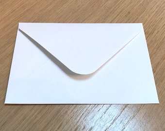 20 x White Envelopes (124mm x 184mm) - quality (140mic) white envelopes