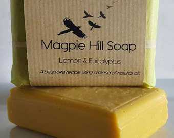 Lemon and Eucalyptus Handmade Soap.
