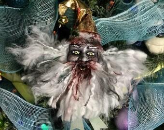 Zombie Santa Gornament