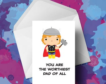 Thor - Fathers Day Card