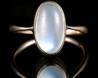 Antique Victorian Moonstone Ring Gold