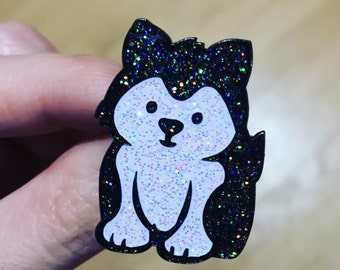 Husky pin, husky lapel pin, husky apparel, Siberian Husky, pins, lapel pins, enamel pins, dog pins, cute pins