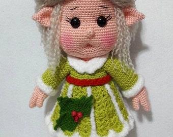 Cute Little Miss Elf-Amigurumi Crochet Pattern-PDF