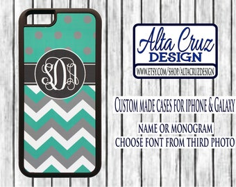 Personalized Monogrammed cell phone case, iPhone or Galaxy, name or monogram #133