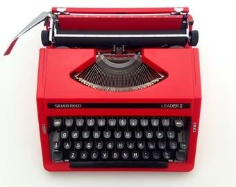 Red Silver Reed - working typewriter - vintage