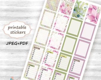 printable full box planner stickers, Erin Condren Life Planner stickers (ECLP), Blossom Planner Sticker, download stickers 106