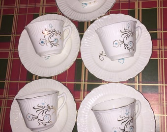 Hand Decorated Vintage Fine Bone China Tea Set