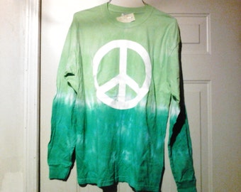 Tye dye  Shirt with Peace sign