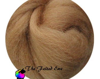 Needle Felting Wool Roving / DR52 Autumn Gold Carded Wool Roving Sliver