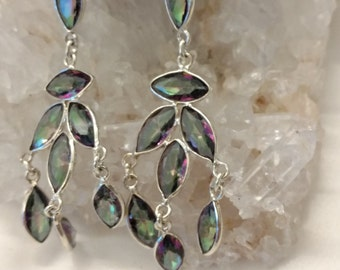 Mystic Topaz Chandelier Earrings