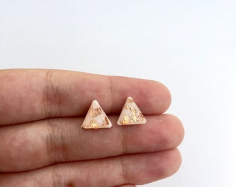 Triangle studs, stud earrings, small stud earrings