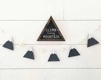 Rocky Mountain Mountain Garland - Mountain Nursery Decor - Boy Nursery Decor - Northwestern Decor - Wall Art - Boys Room Wall Decor