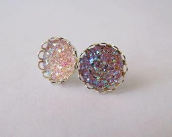 Princess Crown Earrings – Peach Series