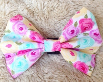 Floral Collar Bow