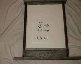 16x20 rustic frame repurposed table legs and barnwood