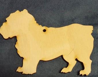 Basset Fauve de Bretagne dog ornament custom cutout wood