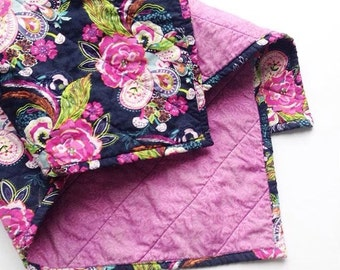 Petal and Plume Baby Girl, Toddler Floral Quilt