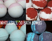 WHOLESALE 50 3 oz Bath Bombs- Bulk Discount