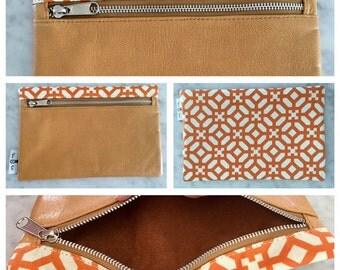 Cayenne Sun Leather Clutch