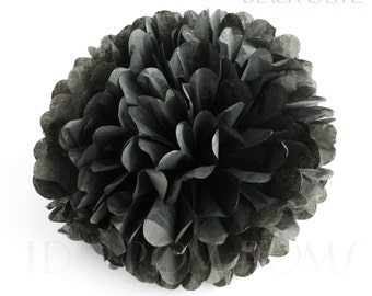 Black Olive Tissue Paper Pom Poms - Wedding Party Decorations - Baby shower Decorations