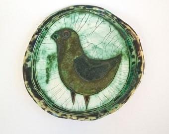 Plate with bird / Блюдо с  птицей