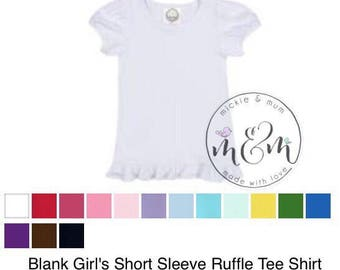 Girls Short Sleeve Upgrade and Size Chart