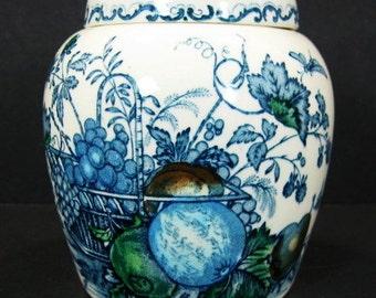 Mason's Fruit Basket 4in Ironstone Ginger Jar Transferware