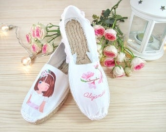 Personalized first communion espadrilles
