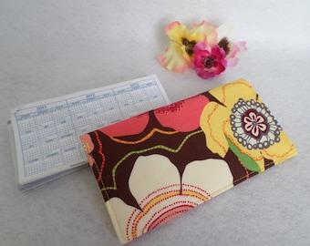 "Handmade Vera Bradley ""Buttercup"" Fabric Checkbook Cover, FREE SHIPPING"
